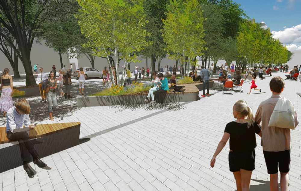 Photo of East Village 3rd St SE Public Realm Level Playing Field Client: CMLC